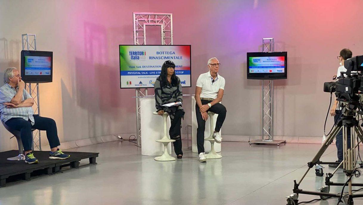 il phygital talk 2021 di territori e italianità in diretta da uno studio televisivo